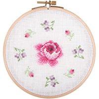 Rico Design Stickpackung Rose und Blümchen 15,5cm