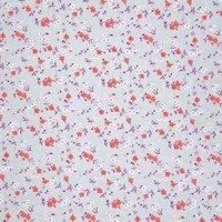 Rico Design Stoff Blumen grau-neonrot 50x160cm