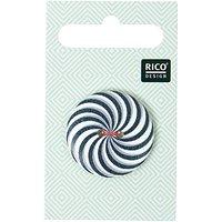 Rico Design Knopf mit Farbstrudel schwarz 3cm