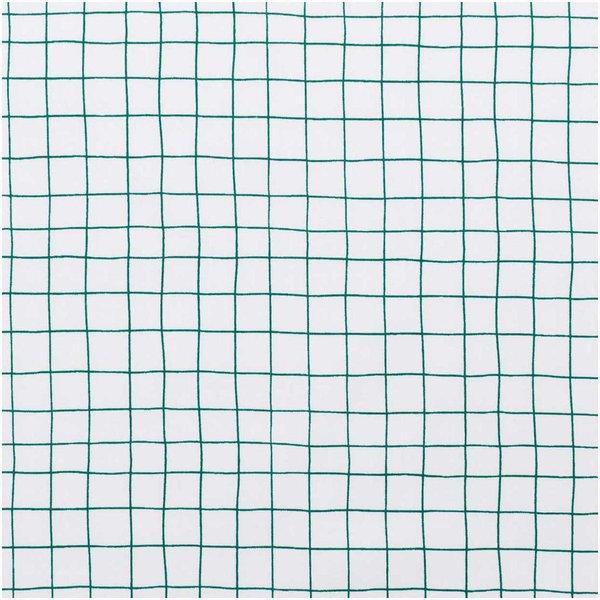 Rico Design Druckstoff Hygge kariert weiß-grün 140cm