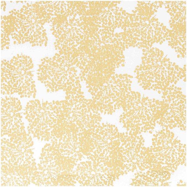 Rico Design Stoff Allium weiß-gold 140cm