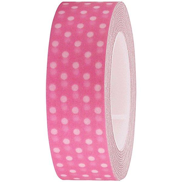 Rico Design Tape pink-weiße Punkte 15mm 10m