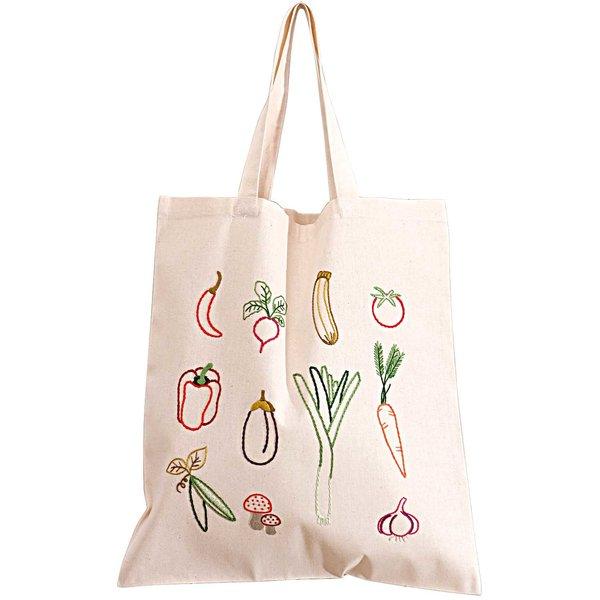 Rico Design Stickpackung Tasche Gemüse 38x45cm
