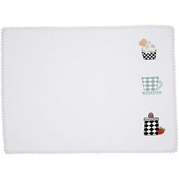 Rico Design Stickpackung Platzset Geschirr