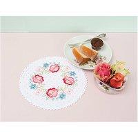 Rico Design Stickpackung Deckchen Blütenkranz 20cm