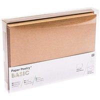 Paper Poetry Kartenset Basic B6/B6 30teilig Kraftpapier