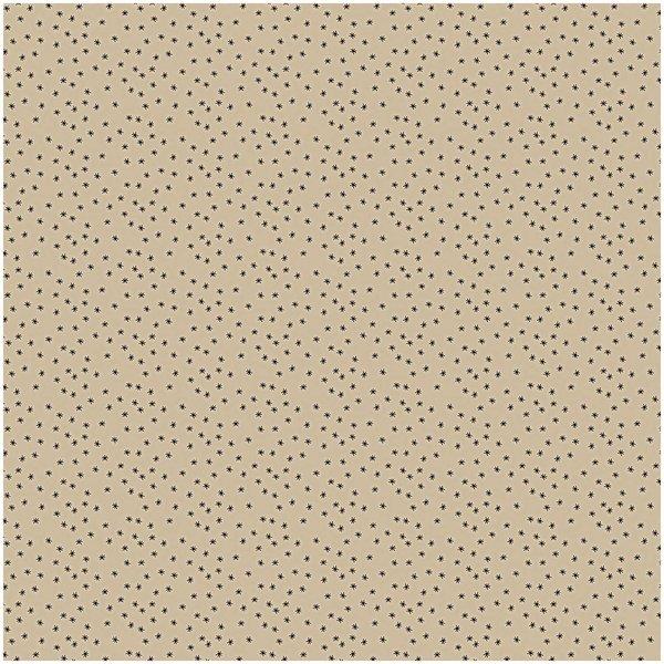 Rico Design Stoff Sterne natur-schwarz 140cm breit