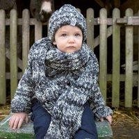Strickanleitung Kinderjacke mit Mütze und Schal
