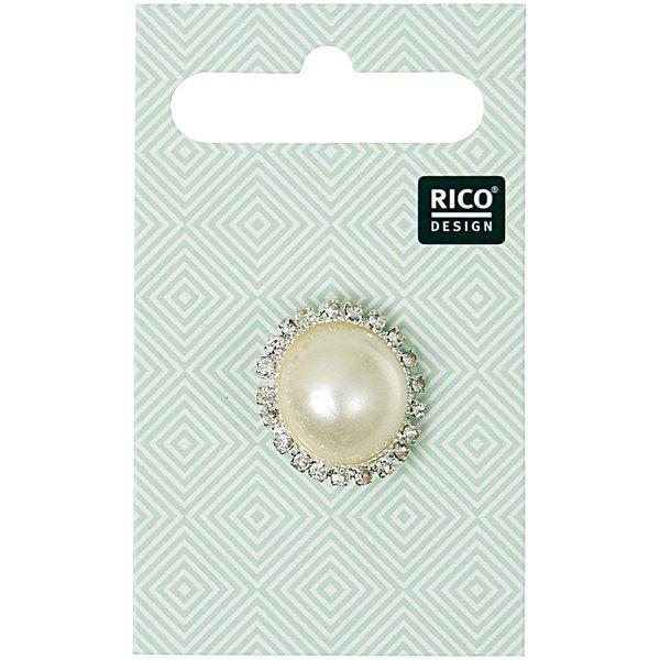 Rico Design Schmuckknopf mit Perle 2cm