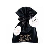 Paper Poetry Geschenktüte Merry Christmas schwarz 20x30cm