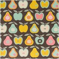 Rico Design Stoff Äpfel und Birnen mint 50x160cm