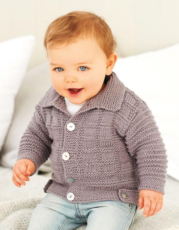 Strickanleitung Babyjacke Mit Kragen Wolle Rödel