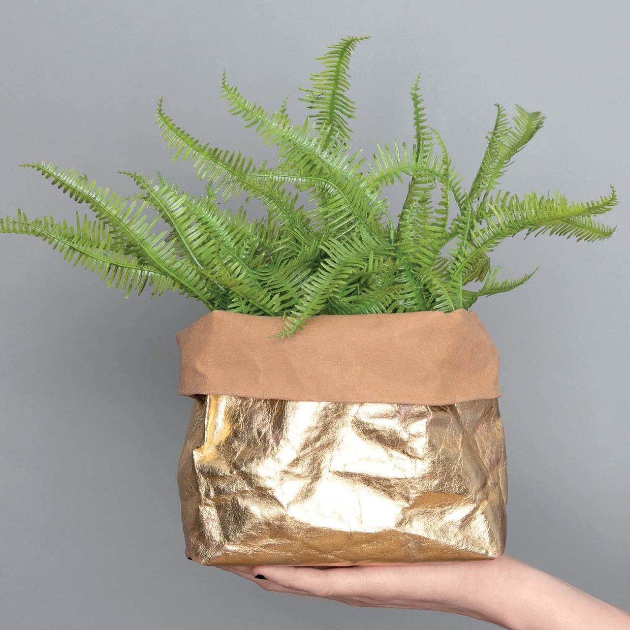 Nähanleitung Pflanzenübertöpfe aus Washable Paper