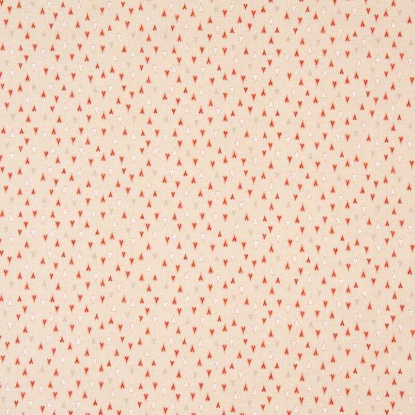 Rico Design Stoff Herzen creme 50x110cm