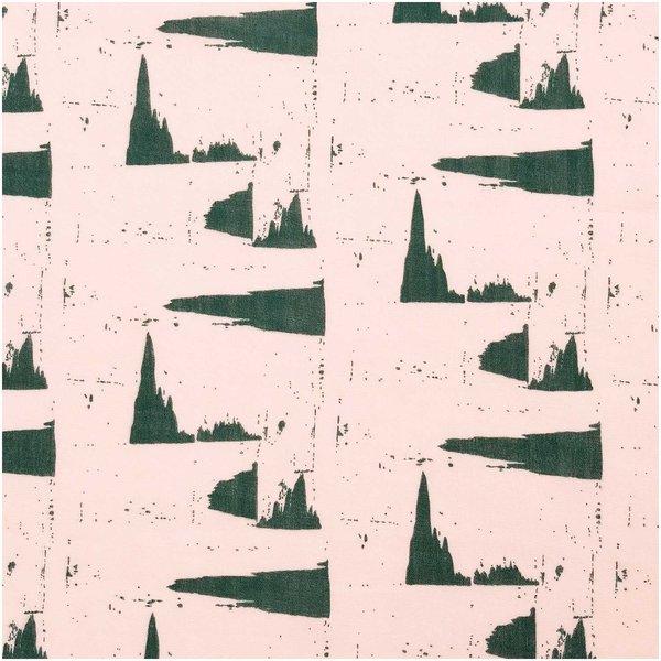 Rico Design Musselin-Druckstoff Nature Matters Muster puder-grün 50x140cm