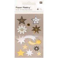 Paper Poetry Sticker Sterne metallic 4 Bogen