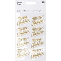 Paper Poetry Gelsticker Merry Christmas
