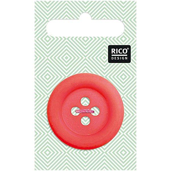 Rico Design Knopf rot matt 3,4cm