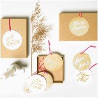 Paper Poetry Papieranhänger Jolly Christmas Schrift 8 Stück