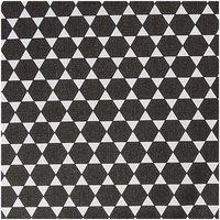 Rico Design Stoff Diamant schwarz 50x160cm