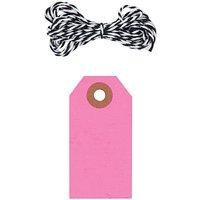 Paper Poetry Geschenkanhänger eckig neonpink 10 Stück