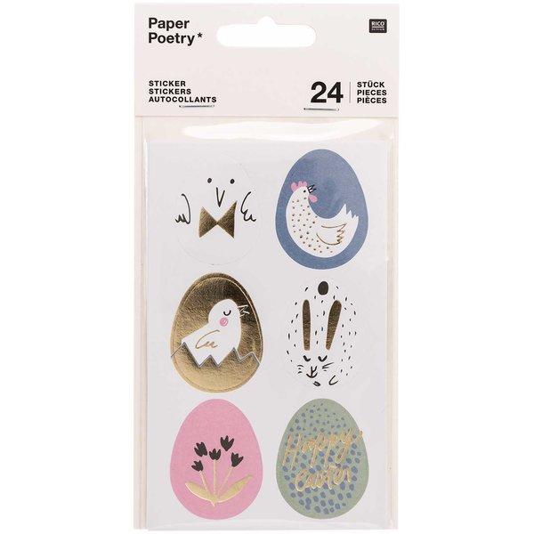 Paper Poetry Sticker Bunny Hop Ostereier 24 Stück