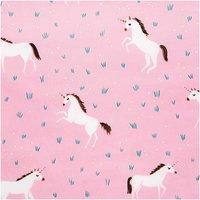 Rico Design Wachstuch Einhorn rosa 140cm beschichtet