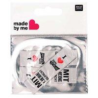 Wolle Rödel Webetiketten mit Liebe gemacht weiß 2x8cm 3 Stück