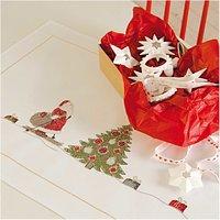Rico Design Stickpackung Läufer Weihnachtsmann 45x100cm