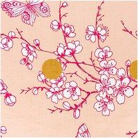 Rico Design Stoff Kirschblüte puder-gold-pink 50x140cm beschichtet