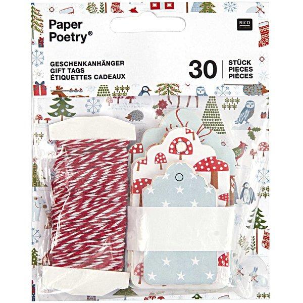 Paper Poetry Geschenkanhänger 30 Stück