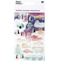 Paper Poetry Gelsticker Eisbären und Robben