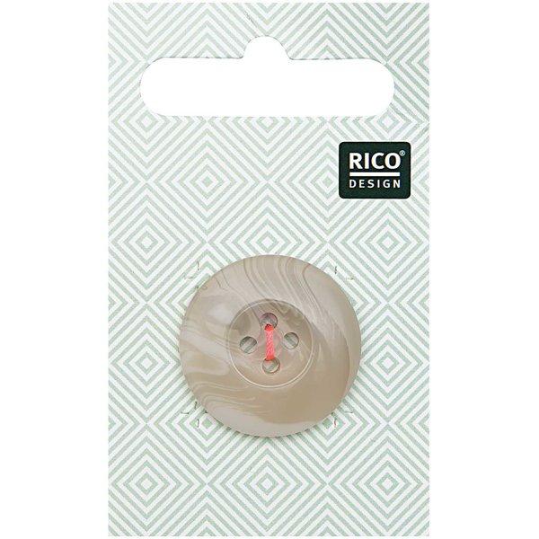 Rico Design Knopf beige 2,5cm strukturiert