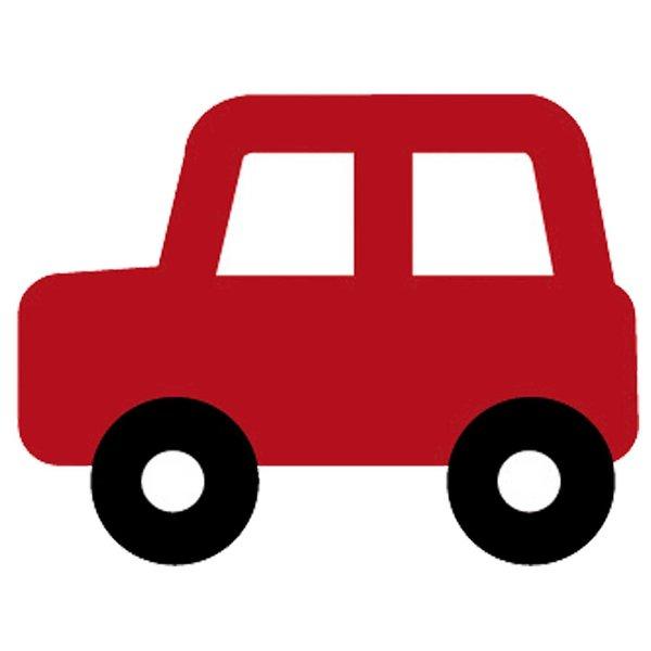Rico Design Appliqué Auto rot 4,2x3,2cm