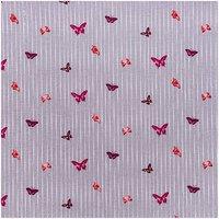 Rico Design Stoff grau mit Schmetterlingen 160cm
