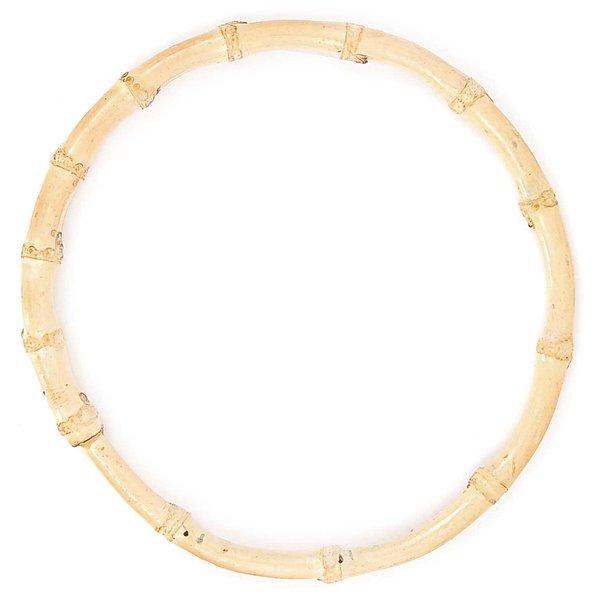 Rico Design Taschengriffe rund Bambus natur 15cm 2 Stück