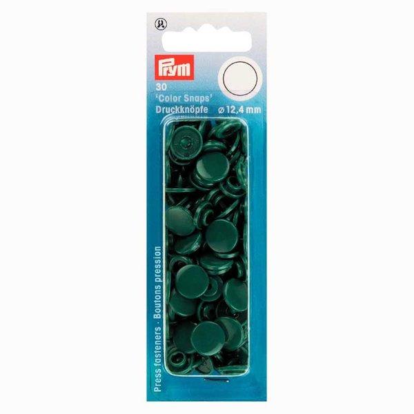 Prym Color Snaps Druckknöpfe dunkelgrün 12,4mm 30 Stück