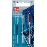 Prym Woll-/Smyrnanadeln silber 3 Stück
