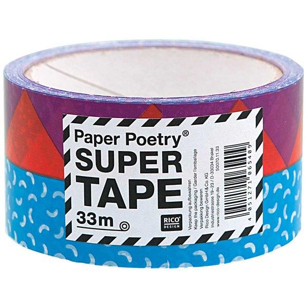 Paper Poetry Paketklebeband 90er blau 5cm 33m