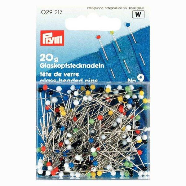 Prym Stecknadeln mit Glaskopf mehrfarbig 30mm 20g