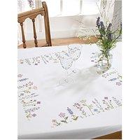 Rico Design Stickpackung Decke Blumenwiese 90x90cm