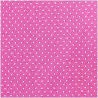 Rico Design Stoff Sterne pink-weiß 50x160cm