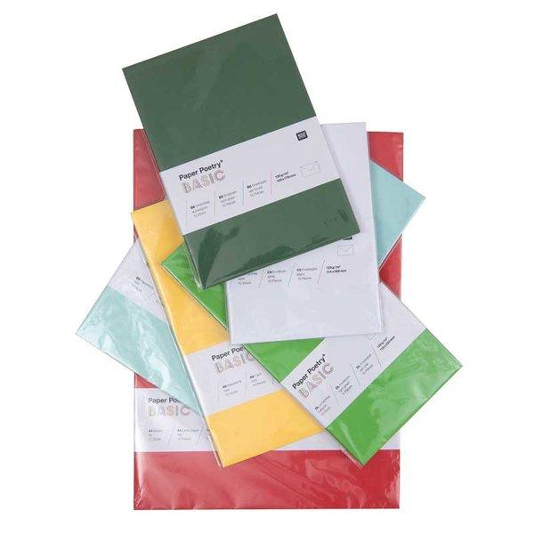 Rico Design Basic 10 Kuverts DIN Lang