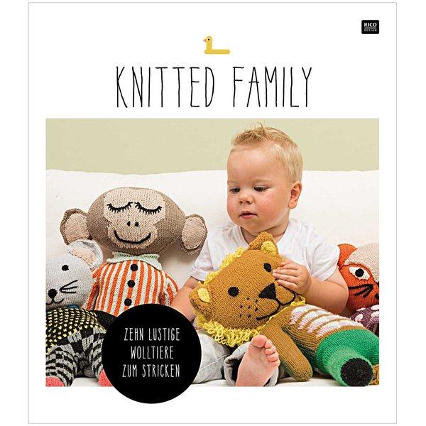 Rico Design Knitted Family - 10 lustige Tiere zum Stricken