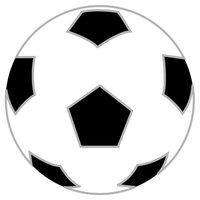 Rico Design Appliqué Fußball weiß-schwarz 7,2cm