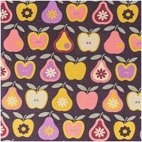 Rico Design Stoff Äpfel und Birnen gelb 50x160cm