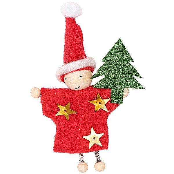 Made by Me Geschenkanhänger Wichtel Weihnachten 1 mit Spruch 8cm