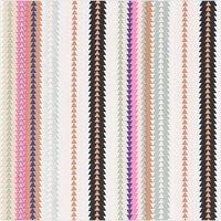 Rico Design Druckstoff Canvas  Streifen mehrfarbig-neon 50x140cm