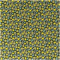 Rico Design Stoff Herbstblumen gelb-beige 50x160cm