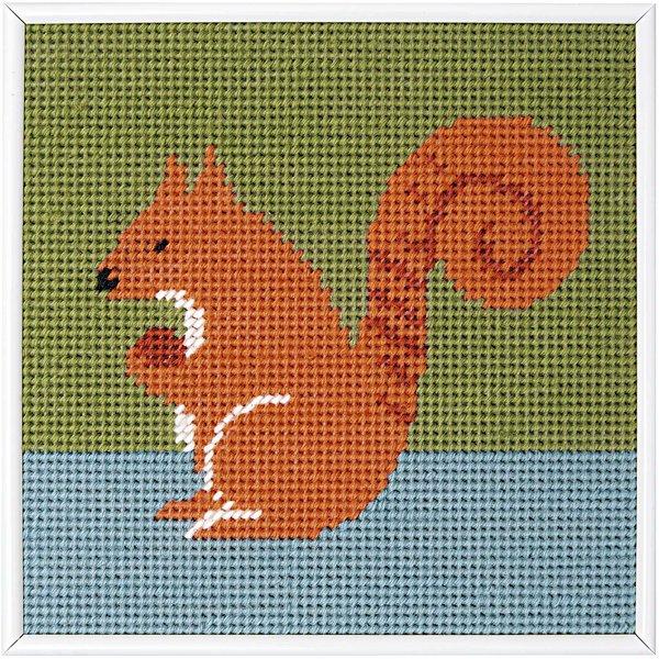 Rico Design Stickpackung Eichhörnchen 22x22cm